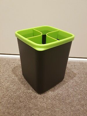 Tupperware KP Utensil Tool Holder Organiser Black & Green NEW