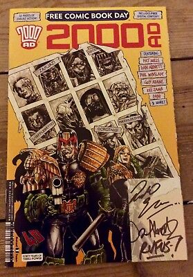 2000 AD Free Comic Book Day 2017 40th anniversary edition Signed Autographed