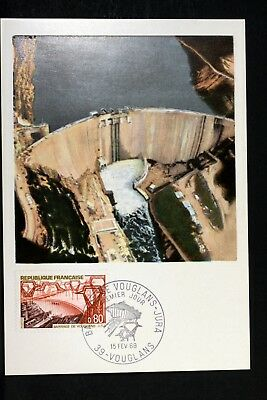 LE BARRAGE DE VOUGLANS   FRANCE Carte Postale Maximum FDC Yt 1583 EF