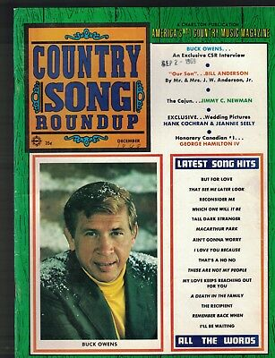 Country Song Roundup December 1969 Buck Owens George Hamilton IV