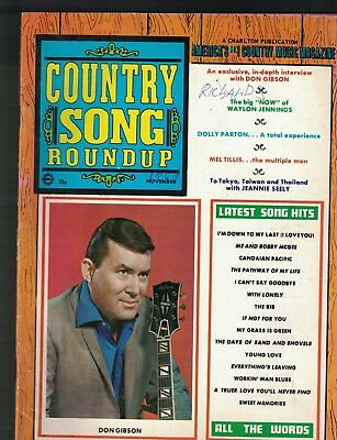 Country Song Roundup November 1969 Don Gibson Dolly Parton Waylon Jennings
