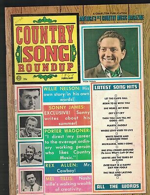 Country Song Roundup February 1969 Willie Nelson Sonny James Mel Tillis