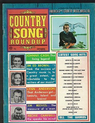 Country Song Roundup September 1968 Johnny Cash Jim Reeves Archie Campbell