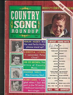 Country Song Roundup June 1968 Jerry Reed Loretta Lynn Ferlin Husky Bobby Bare