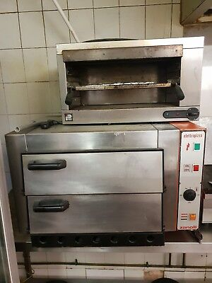 """Electric Pizza Oven 2 X 18"""" Twin Deck Commercial Baking Oven Fire Stone Catering"""