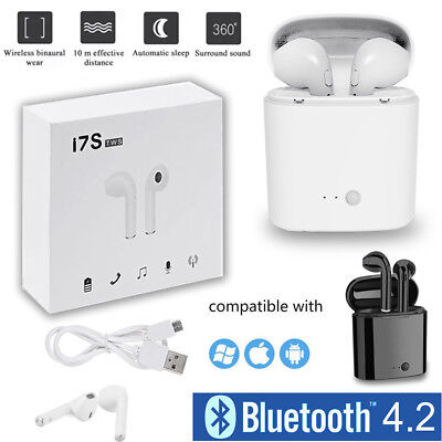 i7s Twins Bluetooth Wireless Earphone Headphones Earbuds Headset Air In-Ear pods