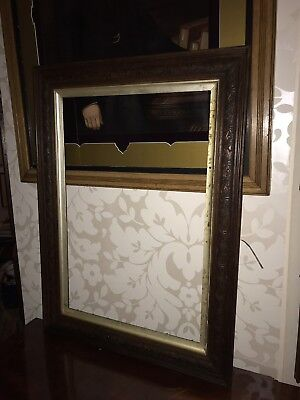 Beautiful Large Victorian Carved Oak Picture Frame 66 X 89 Cm