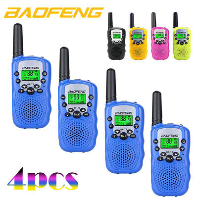 4x BAOFENG Mini Walkie Talkie 3-5KM Two Way Ham Radio GMRS/FRS 22CH Interphone