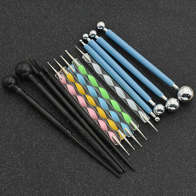 13x Dotting Tools Set Ball Stylus Embossing Clay Sculpting Carving Modeling Tool
