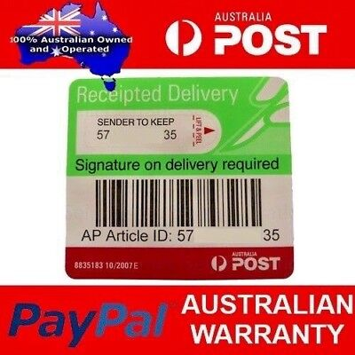 AUSPOST Australia POST Receipted Signature on Delivery Tracking Label 100 labels