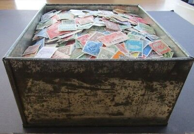 Huge Collection Of Stamps In Biscuit Tin/box - All World/all Periods - 20,000+