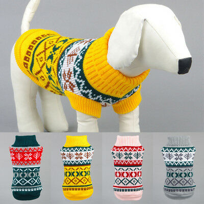 Winter Pet Coat Xmas Clothes Dog Vest Sweater Small Medium Dogs Warm Outwears