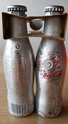 nice coca cola alu bottle coca cola christmas from Belgium.2 Full bottles + pack