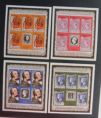 Dominica 1979 Rowland Hill SG650/3 sheetlets UM MNH unmounted mint