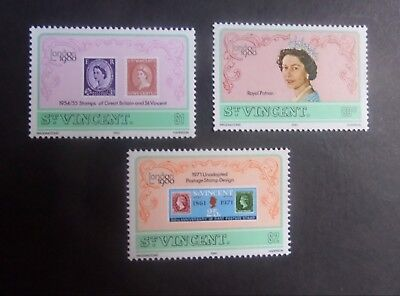 St Vincent 1980 London 80 Stamp Exhibition SG634/6 MNH UM unmounted