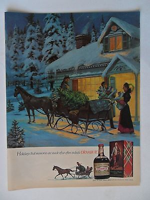 1976 Print Ad Drambuie Liqueur ~ Holidays Memories Are Made Of Christmas ART
