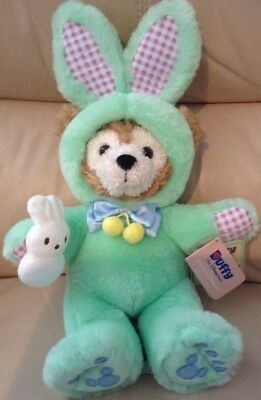 Bnwt Genuine Disney Parks Disney Duffy Bear Easter Outfit Hidden Mickey Soft Toy