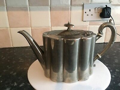 Vintage silver plated tea pot