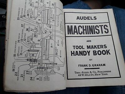 VINTAGE Audels Machinists and Tool Makers Handy Book by Frank D Graham 1941