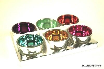Set of 6 Piece Tealight Candle Holder Assorted Colors Holiday Decoration Target