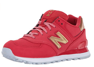 huge discount c32ac 59907 NEW BALANCE WOMEN'S WL574VJA Varsity Sport Sneaker, Team Red/Metallic Gold
