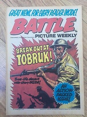 BATTLE PICTURE WEEKLY issue #36 : 8 Nov 1975 - classic boys' war comic