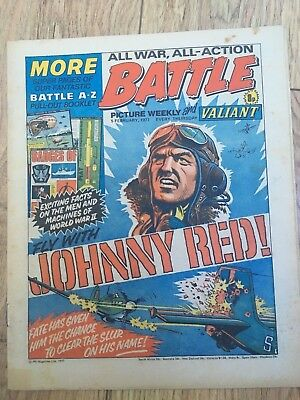 BATTLE PICTURE WEEKLY 5 Feb 1977 - classic boys' war comic - includes Valiant