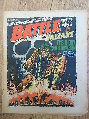 BATTLE PICTURE WEEKLY 22 Jan 1977 - classic boys' war comic - includes Valiant