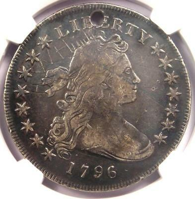 1796 Small Eagle Draped Bust Silver Dollar $1 BB-61 B-4 - NGC Fine Detail (Hole)