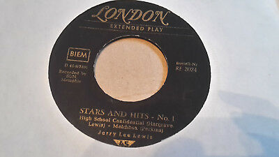 """RARE Rock n Roll 7"""" EP,JERRY LEE LEWIS,Stars and Hits No1"""