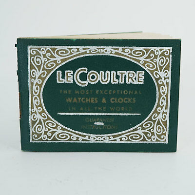 LeCoultre Open Papers, Green, Ungestempeltes Zertifikat, Vintage, Collector only