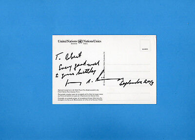 Henry Alfred Kissinger (1973 Nobel Peace Prize) Signed United Nations Post Card