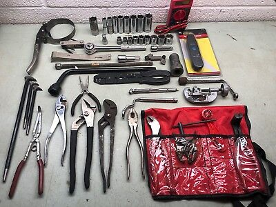 Huge Tool Lot Sockets Wrenches Ratchet Pliers Multimeter Gages CRAFTSMAN  HUSKY+