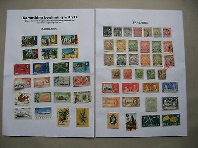 BARBADOS, small lot used and hinged stamps, mixed quality