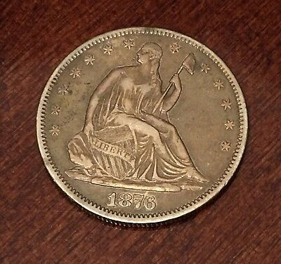 1876-S  San Francisco Mint Silver Seated Half Dollar