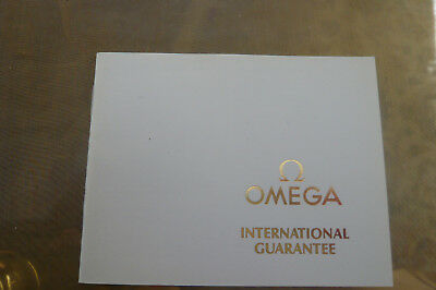 OMEGA Watches  vintage blanco  Guanrantee booklet ,  ,Seamaster ,Moonwatch