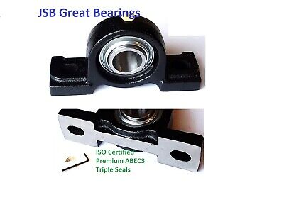 (Qty.10) Premium solid UCP206-19 triple seal ABEC3 Pillow block bearings 1-3/16