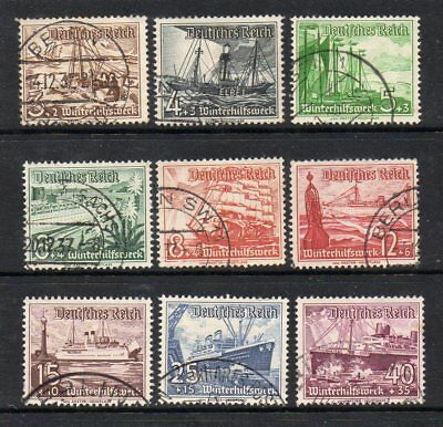 Germany Third Reich 1936 Winter Relief Fund Set Sg623-631 Good Used High Cat £25