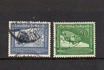 Germany Third Reich 1938 Count Zeppelin Set Sg657-8 Good Used High Cat £5