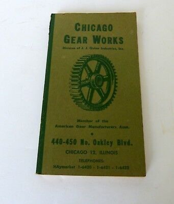 Vintage Chicago Gear Works Catalogue 1963