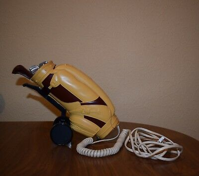 vintage telephone golf bag caddy phone corded push button boxed