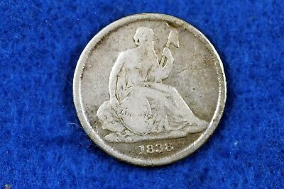 ESTATE FIND 1838 - O NO/STARS Seated Liberty Dime!!  #H13819
