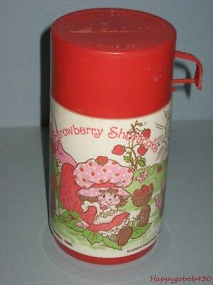 Vintage Strawberry Shortcake Plastic Thermos Aladdin Industries Circa 1980