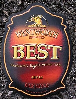WENTWORTH brewery BEST cask ale beer badge pump clip front NEW Yorkshire UNUSED