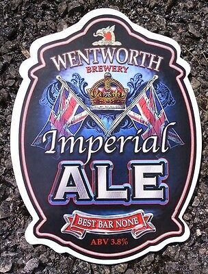 WENTWORTH brewery IMPERIAL ALE cask beer badge pump clip front NEW Yorkshire