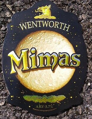 WENTWORTH brewery MIMAS cask ale beer badge pump clip front Yorkshire NEW