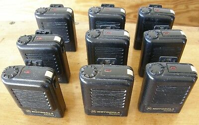 Lot of nine Motorola KeyNote Pagers with cradles and power supplies