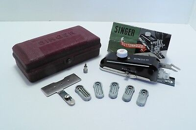 Vtg Singer Model 301 Sewing Machine Buttonholer Attachment - perfect buttonholes