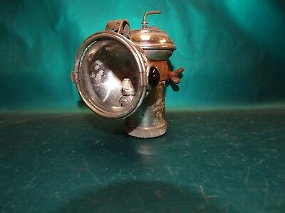 "Antique 1900s Columbia Carbide Model C "" Automatic Bicycle Motorcycle Lamp !"
