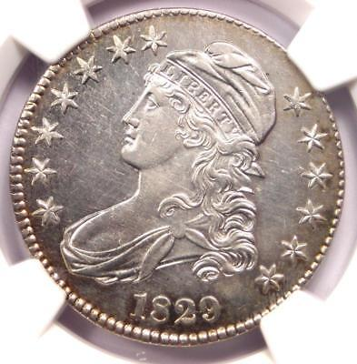 1829 Capped Bust Half Dollar 50C O-112a - NGC AU Details - Rare Certified Coin!